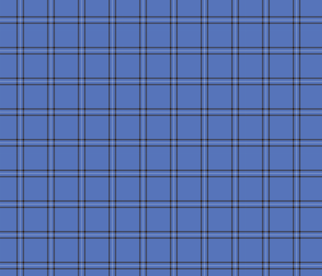 Blue Scot Plaid fabric by jewelraider on Spoonflower - custom fabric