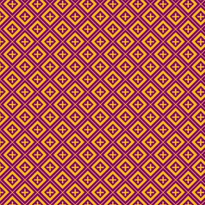 Diamond Crosses Gold on Purple