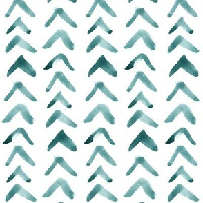 Turquoise Watercolor Arrows // Vertical