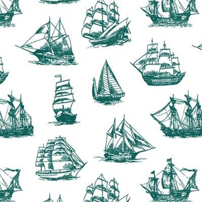 Green Sailing Ships // Small
