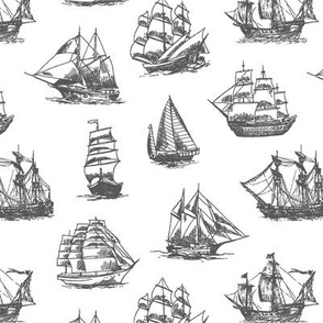 Grey Sailing Ships // Small