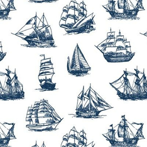 Navy Sailing Ships // Small