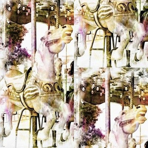 Pastel Carousel Horse
