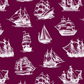 Sailing Ships on Tyrian Purple // Small