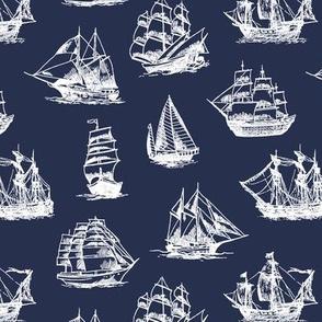 Sailing Ships on Navy // Small