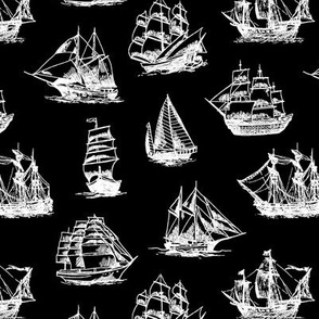 Sailing Ships on Black // Small