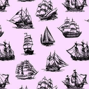 Sailing Ships on Pink // Small