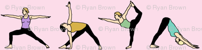 Yoga Girls on Pink // Small
