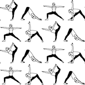 Yoga Outlines // Black & White