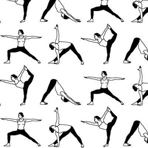Yoga Poses in Black & White // Small