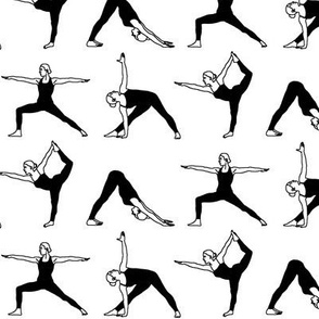 Yoga Poses in Black // Small