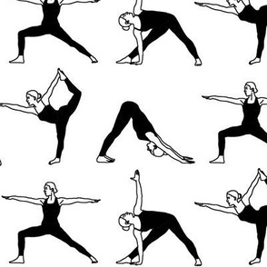 Yoga Poses in Black // Large