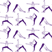 Yoga Outlines // Purple