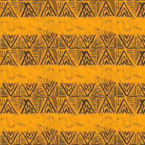 The Rain in Africa Batik Chevron on Gold
