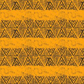 The Rain in Africa Batik Chevron on Gold