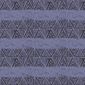 The Rain in Africa Batik Chevron on Rain Blue
