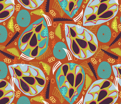 African Seed Pods. fabric by slumbermonkey on Spoonflower - custom fabric