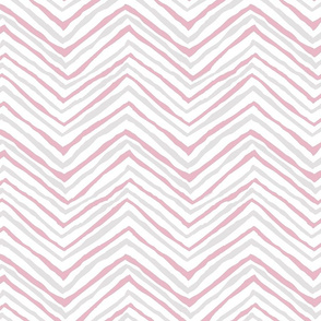 zig zag pink gray grey chevron painted stripes