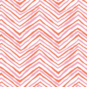zig zag orange pink chevron stripes