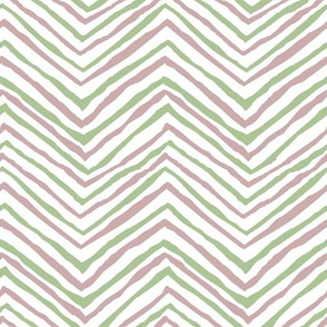 zig zag green pink chevron stripes painted arrows