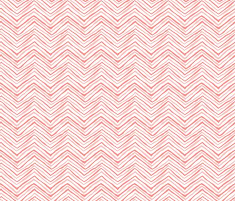 zig zag coral blush chevron stripes blush pink fabric by jenlats on Spoonflower - custom fabric