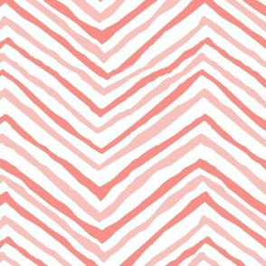 zig zag coral blush chevron stripes blush pink