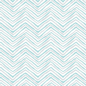 zig zag aqua gray chevron blue-green stripes