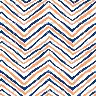 navy blue orange zig zag chevron tigers clemson football