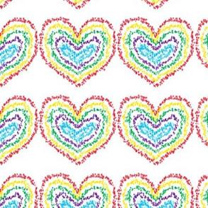 Spatter Hearts-Rainbow