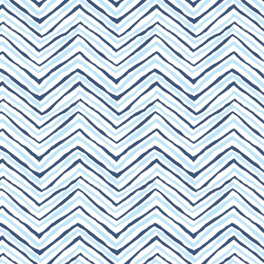 navy blue carolina blue light zig zag chevron