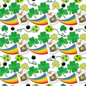 St Patty Rainbows & Clovers
