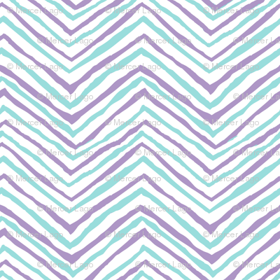 zig zag purple aqua chevron stripes