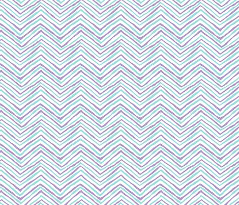 zig zag purple aqua chevron stripes fabric by jenlats on Spoonflower - custom fabric