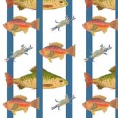 Heathers Fish Blue Stripe
