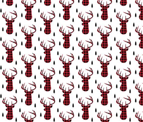 Buffalo Plaid Deer - Buck Woodland Baby Nursery Kids Children Baby Boy Bedding fabric by gingerlous on Spoonflower - custom fabric
