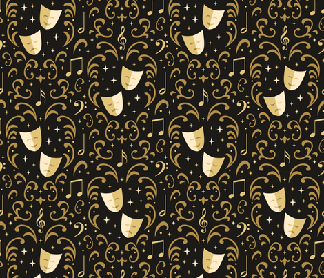 Theater Damask fabric by robyriker on Spoonflower - custom fabric