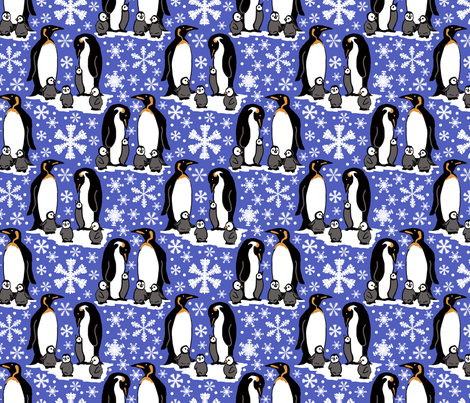 Emperor penguins 6x6 fabric by leroyj on Spoonflower - custom fabric
