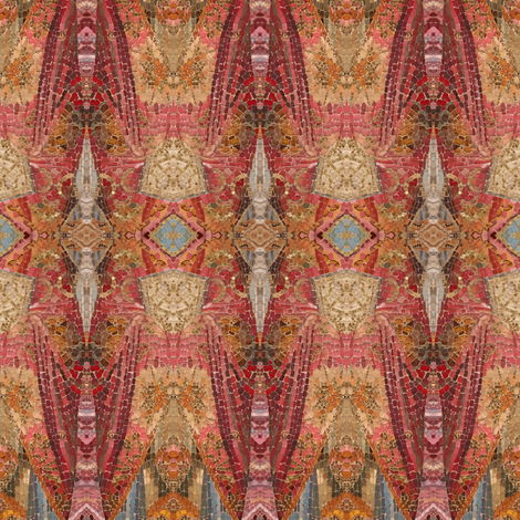 Red Mosaic fabric by pictor_imaginarius on Spoonflower - custom fabric