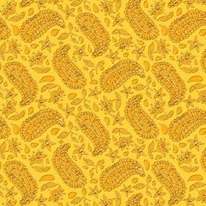 Yellow and Fake Gold Paisley