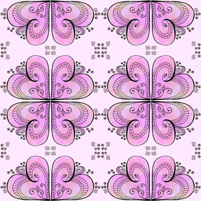 Pink Hearts - Mirrored Design