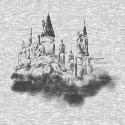 "4"" Wizard Castle in Textured Grey"