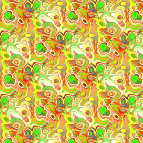 Yellow, Green, and Orange