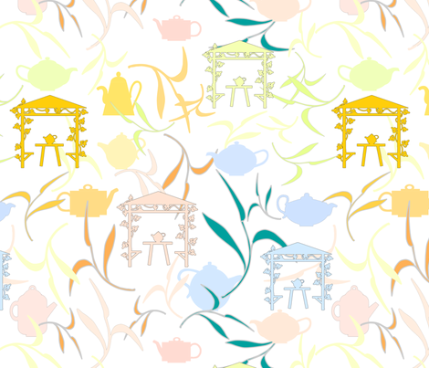 Tea Pot Show fabric by herbal_things on Spoonflower - custom fabric