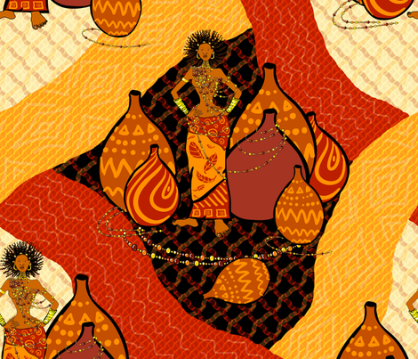 Africa big scale  fabric by magic_pencil on Spoonflower - custom fabric