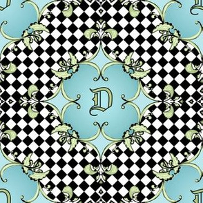 regal flourish - monogram D