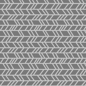 Crazy Herringbone - Greys - ROT