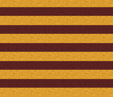"""1.5"""" Gryffin Stripe - Basic Textured - Gold And Maroon fabric by sugarpinedesign on Spoonflower - custom fabric"""