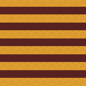 "1.5"" Gryffin Stripe - Basic Textured - Gold And Maroon"