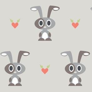 Bunnies Hop beige