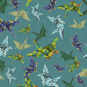 5 Washi Cranes